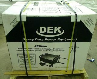 Dek Pro Series 4 550 Watt Gasoline Powered Commercial Grade Portable Generator