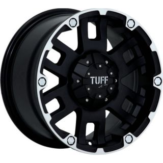 16x8 Black Tuff T04 5x5 5 10 Rims Toyo Open Country at II LT265 75R16 Tires