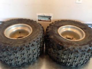 2003 Polaris Predator 500 Rear Rims Wheels and ITP Tires 4 156