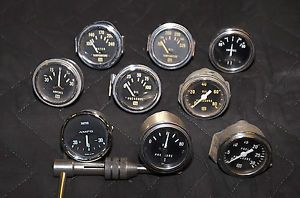 Vintage Stewart Warner Smiths Gauges Lot of Nine Gauges for Hot Rod Cobra