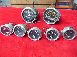 Stewart Warner Gauges Instrument Cluster Vintage Hot Rat Rod Accessory Scta Lot