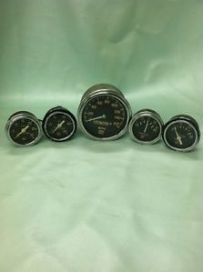 Vintage SW MPH Oil Vacuum Fuel Gauges Hot Rod Rat Muscle Car Stewart Warner Lot