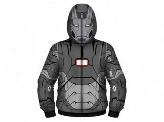 Marvel Comics Iron Man 3 War Machine Adult Men Size Costume Hoodie Grey