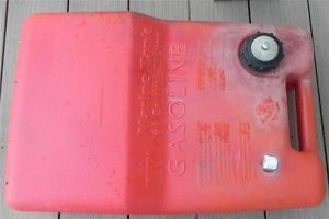 Chilton Red Plastic 6 6 Gallons 25 Liters Marine Boat Gas Tank Vented Boating