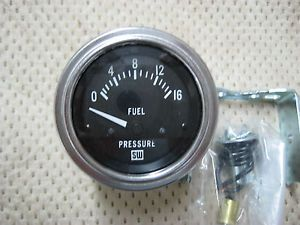 "Stewart Warner Deluxe Series Electric Fuel Pressure Gauge 2 1 16"" Dia 82333"
