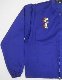 Vintage 60s Ford Mustang Zipper Front Snoopy Racing Satin Car Club Jacket M O