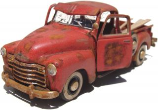 O Scale Finetrains Scratch Bashed Built 1950 Chevy Pickup Truck On30 On3 1 43