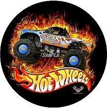 Hot Wheels Monster Truck Edible Icing Cake Topper Image