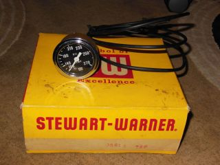 "Vintage Stewart Warner 2 1 8 "" Oil Temp Gauge Instrument Cluster Hot Rod"