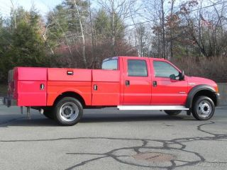 2005 Ford F 450 XL Crew Cab Utility 9ft Service Body 6 0L Powerstroke Diesel