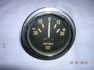 Vintage Stewart Warner Amp Gauge Amperes Used Old School