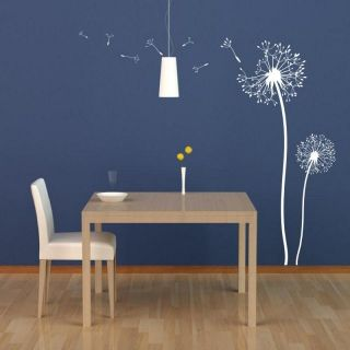 Dandelion Blowing in The Wind Wall Decor Wall Sticker Decal Many Colours New