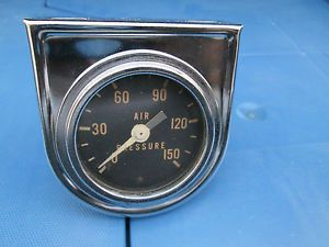 Vintage 2'' Stewart Warner Air Pressure Gauge Mounting Panel