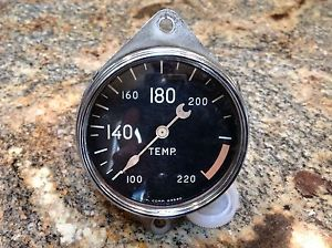 Vintage Stewart Warner Cresent Pointer Auburn Water Temperature Gauge Rat Rod SW