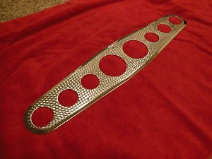 Vintage Stewart Warner Straight 8 Style Gauge Panel Instrument Cluster Hot Rod