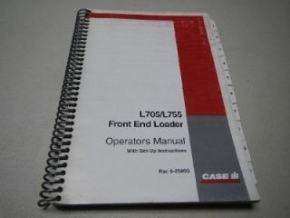 Case L705 L755 Front End Loader Operators Manual Rac 6 25800