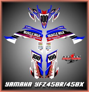YFZ450X YFZ 450R Yamaha Toyota Graphics Semi Custom Graphic Kit