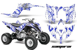 Yamaha Raptor 700 2013 Graphics Kit Creatorx Decals Samurai BLW