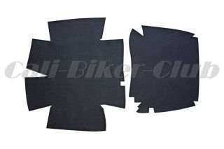 Black Tour Pak Pack Carpet Liner for HD Harley Davidson Touring Road King FLHR