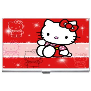 New Hello Kitty Metal Business Credit Card Case Holder