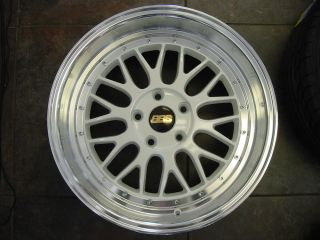 "18"" LM White Wheels 5x114 Staggered Rims 350Z STI G37 G35 IS250 is350 8 5 9 5"