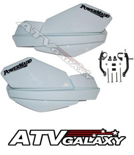 Powermadd Trail Star Handguards Mount Kit White Yamaha Raptor 660 04 05