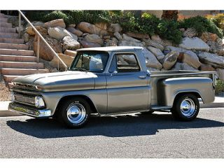 '66 Chevrolet C10 Stepside Pickup Beautiful Body Off Resto Custom Show Truck