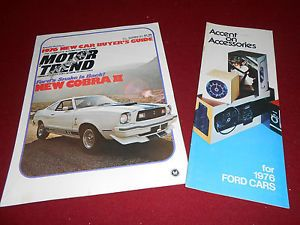 1976 Ford Mustang Cobra II Brochure '76 Ford Accessories Catalog 2 for 1