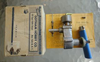 Antique Deezil Model Airplane Engine Motor in Orig Box with Instructions 2 of 2
