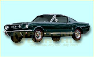1964 1965 1966 Mustang GT Decals Stripes Kit
