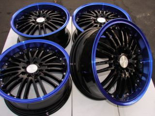 "16"" Blue Wheels Rims 4x100 4x108 Honda Accord Civic Prelude Kia Rio Sephia Miata"
