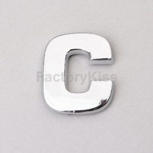 Universal Chrome Letter Alphabets 3D Car Badge Sticker Decal Emblem Trunk Side C