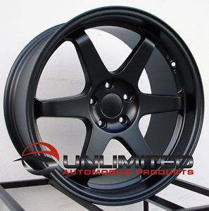 "18"" Varrstoen ES2 Style Matte Black Wheels Rims Fit Nissan 350Z 370Z"