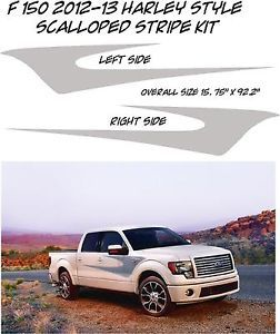Ford F 150 F Series Harley Davidson Style Scalloped Sticker Decal Stripes Flames