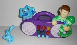 Blues Clues Sing Along Radio Microphone Toy w Small Blue Posable Figure