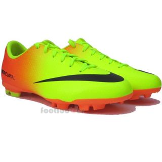 Scarpe Nike Calcio Mercurial Victory IV FG Jr 553631 708 Neon Orange Junior