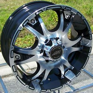 "20"" American Racing Dagger Black Wheels Falken STZ 04 Tires Chevy 1500 Tahoe"