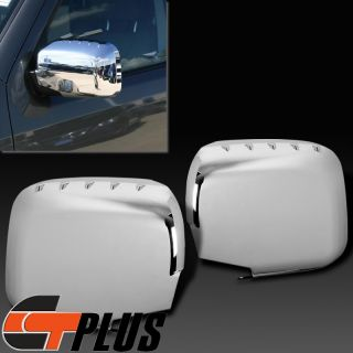 2006 2013 Honda Ridgeline Triple Chrome Side Mirror Cover Trim Set Cap Crew Cab