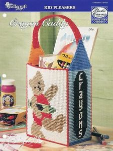 Crayon Caddy Toys Tote Bag Plastic Canvas Pattern