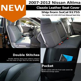 Clazzio Custom Perfect Fit Leather Seat Cover Tan Beige 07 12 Nissan Altima 4D