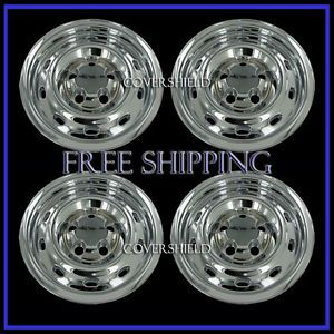 "4 PC Set Dodge RAM 1500 17"" Chrome Hub Caps Wheel Covers Rim Skins Simulators"