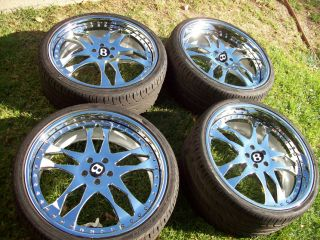 22 asanti AF129 Chrome Bentley Continental GT GTC Flying Spur Wheels Tires