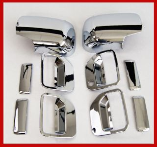 06 07 08 09 10 Honda Ridgeline Pickup Chrome Door Handle Rear Mirror Covers Set