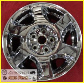 "02 03 04 05 Saturn L Series 16"" 6 Spoke Chrome Clad Wheel Used Factory 7019"