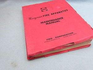 Collectable Parts Operators Book FWD and Four Wheel Drive Seagrave Fire Engine
