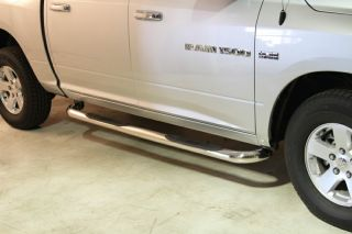 09 14 Dodge RAM Crew Cab Stainless SS Nerf Side Tube Rail Step Running Board