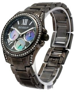 Gossip GSP862 Gun Metal Women's Roman Numeral Round Analog Watch