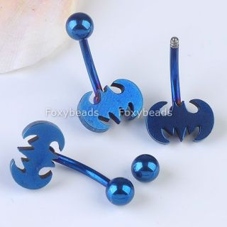Stainless Steel Cartoon Belly Navel Ring Button Barbell Bars Body Piercing Punk