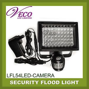 54 LED Flood Light Lamp Outdoor Waterproof Security Video Camera Infrared Sensor