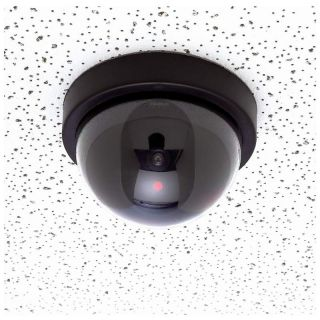 Dummy Security Dome Camera Motion Active LED Light CCTV Wireless Surveillance